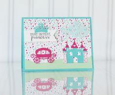 Happy Birthday, Princess Card by Taylor VanBruggen #Cardmaking, #TEMatched, #Birthday, #BuildAScene, #LittleBitsDies, #TE, #ShareJoy
