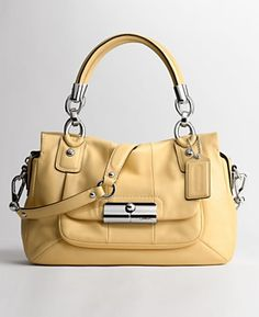 Photos don't do this Coach Kristin Satchel justice but I just don't know if a yellow bag is worth the investment.