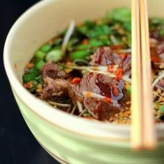 Beef Pho (Vietnamese Noodle Soup) by pepperlynn: This shortcut method is fresh, flavorful, and easy to prepare!