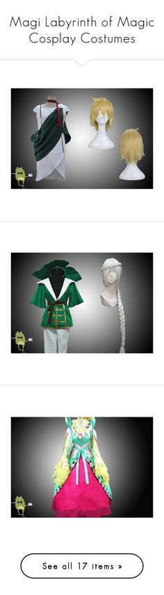 """""""Magi Labyrinth of Magic Cosplay Costumes"""" by cosplayfield ❤ liked on Polyvore featuring costumes, cosplay costumes, role play costumes, cosplay halloween costumes, animal halloween costumes, animal costumes, wigs costume, white wig costume, white halloween costumes and pink costume"""