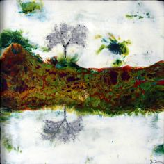 Abstract Wall Art - Julia Fosson Encaustic Art & Paintings