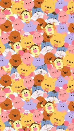 Pin Viviane Namie On Winnie The Pooh Disney Wallpaper intended for The Most Awesome Winnie the Pooh Whatsapp Wallpaper - All Cartoon Wallpapers Cartoon Wallpaper Iphone, Disney Phone Wallpaper, Kawaii Wallpaper, Cute Cartoon Wallpapers, Trendy Wallpaper, Disney Kunst, Disney Art, Tsum Tsum Wallpaper, Disney Mignon