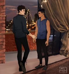 """""""Never let me go"""" ...  From shirmir ...   alexander 'alec' lightwood, malec, magnus bane, the mortal instruments, shadowhunters"""