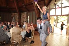 Best Man, Maid of Honor Entrance! Lake wedding, Culver Indiana