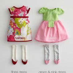 personalizable rag doll dresses