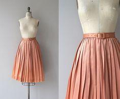 Warm Shimmer skirt | 1950s silk satin skirt | vintage 50s skirt