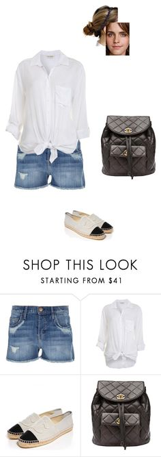 """""""Sem título #8452"""" by gracebeckett ❤ liked on Polyvore featuring Current/Elliott, Miss Selfridge, Chanel and Ruby Browning"""