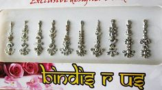Forehead Bindis are arguably the most visually fascinating of all forms of body decoration.  Our Bindis are READY TO WEAR.  If in the future you feel the need for more adhesive, apply spirit gum or clear eyelash adhesive to the back of the bindi and put in place, use it this way and our Bindis will last a long time.  This beautiful set has 10 bindis in vibrant colors to match your various outfits and moods. Each Use this Bindi as you like, adorn it on your forehead, or your belly button, on…