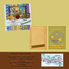 FREE Pocket Style Cards : P12 - 2014 August By Romajo