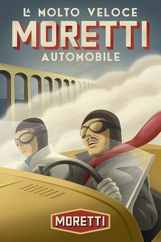 Retro Italian Racing Posters