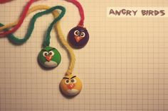 angry birds fimo Clay Birds, Clay Design, Angry Birds, Clay Art, Washer Necklace, Polymer Clay, Craft Ideas, Jewels, Crafts