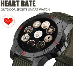 Smart Outdoor Sport Watch Bluetooth Heart Rate Smart Wrist Watch SIM For Android IOS Phone