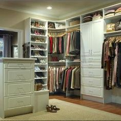 organized closet.  Sort of my plan for our closet.