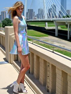 Hey, I found this really awesome Etsy listing at https://www.etsy.com/listing/195700188/holographic-dress-with-open-back
