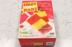 "1) Trader Joe's: Fruit Frenzy  These bars contained three fruit flavors in one: raspberry, lemon, and strawberry, and we included them because even though they're a different animal entirely, they were worth giving a shot. Unanimously liked, these tasted like real fruit, with the strawberry portion being the favorite. If you're looking for a more ""adult"" fruit bar, this one's for you."