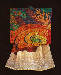 Fire Vortex (2006) )by the Late Japanese textile artist Itchiku Kubota(1917-2003) form the exhibition,Kimono as Art: The Landscapes of Itchi...
