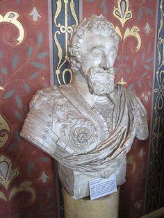 Château de Blois ~ Loire Valley ~ France ~ Bust of Henri IV in the Galerie de la Reine.