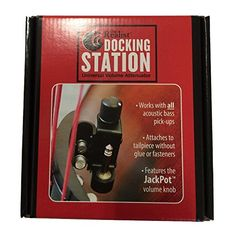 "The Realist RLSTDS ""Docking Station"" Universal Volume ATTENUATOR  https://topcellulardeals.com/product/the-realist-rlstds-docking-station-universal-volume-attenuator/  Mounts to any tailpiece without glue or fasteners 'Jack-Pot' potentiometer allows resistance to be bypasses entirely String tension holds the docking station in place"