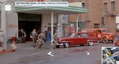 Back to the Future Hill Valley scene if it was photographed by the Google Maps car