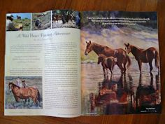 Spring issue of Horses in Art magazine has an article featuring my method of paint wild horses from life!