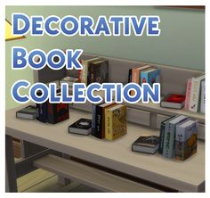 Decorative Book Collection by Menaceman44 at Mod The Sims via Sims 4 Updates