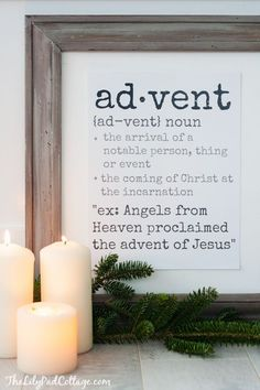Advent Definition Free Printable | The Lilypad Cottage