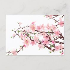 Found it at AllModern - Flowers 3 Painting Print on Canvas Cherry Blossom Watercolor, Cherry Blossom Art, Cherry Blossom Wedding, Watercolor Trees, Blossom Trees, Cherry Blossom Nursery, Mirror Painting, Stone Painting, Painting Prints