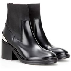 Acne Studios Dion Leather Ankle Boots (2.161.480 COP) ❤ liked on Polyvore featuring shoes, boots, ankle booties, black, black leather boots, black bootie, leather ankle booties, black leather booties and leather bootie
