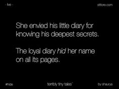 Ttt- hide|| Tales to treasure || microtales || Terribly Tiny tales