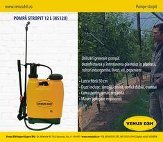 Specificații #pompă #stropit: ✪ Lance fibră 50 cm ✪ Duze incluse: simplă, conică, conică dublă, evantai ✪ Curea pentru umăr, reglabilă ✪ Mâner pompare ergonomic Utilizări generale pompă: dezinfectarea și întreținerea plantelor în plantații, culturi neacoperite, #livezi, vii, #pepeniere Materiale folosite pentru #stropire: ✪ pesticide ✪ ierbicide ✪ fertilizator ✪ apă curată