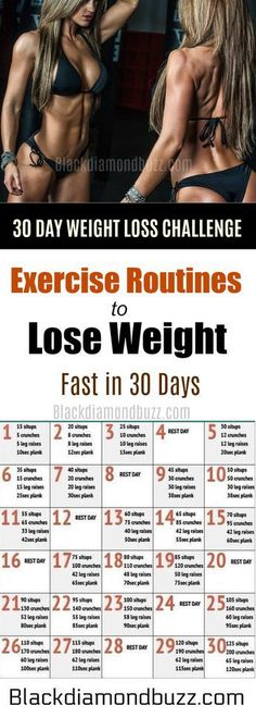 30 DAY WEIGHT LOSS CHALLENGE- Easy Best Exercise Routines to Lose Weight Fast in 30 Days