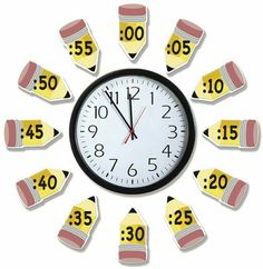 Telling Time Bulletin Board Sets Time flies when you are having fun! This Telling Time Kit works with any analog classroom clock to teach time visually. Set also includes out clocks with hands to practice basic time concepts. Classroom Clock, Math Classroom, Classroom Organization, Classroom Ideas, Future Classroom, Maths Classroom Displays, Classroom Display Boards, Classroom Supplies, First Grade Classroom