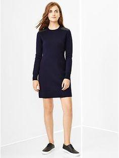 Merino shoulder-patch dress | Gap