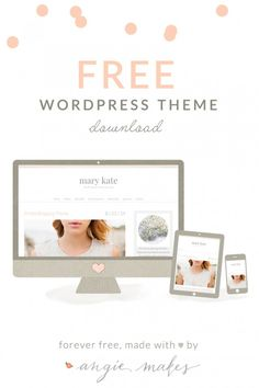 So many beautiful freebies including a wordpress theme from angiemakes.com!  Great page to explore and their premium options are to die for gorgeous!