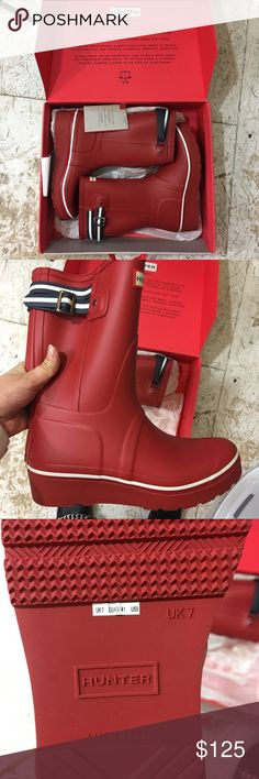 Hunter Rain Boots Special Edition New In Box Never worn gorgeous hunter hunter boots with a slight platform. Size 9 Hunter Shoes Winter & Rain Boots