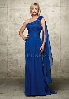 Floor Length A line One Shoulder Zipper up Chiffon Sleeveless Mother of the Bride Dress A3254051 $216.99 Mother of the Bride Dresses