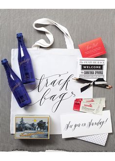 Kentucky Derby inspired guest totes/welcome bags. Bagmasters.   photos by Jessica Antola
