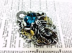 50 SALE Selkis Scorpion Aged silver brass by ValkyrieCouture, $69.00