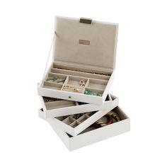 White Classic Stackers™ Premium Jewelry Storage