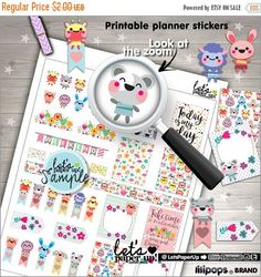 60%OFF - Stickers Set, Printable Planner Stickers, Weekly Stickers, Animal Stickers, Erin Condren, Planner Accessories, Life Quotes, Happine