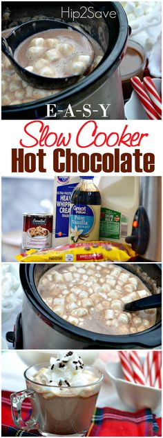Slow Cooker Hot Chocolate Recipe, Hot Cocoa Recipe, Cocoa Recipes, Hot Chocolate Recipes, Chocolate Smoothies, Chocolate Shakeology, Baking Recipes, Slow Cooking, Yummy Drinks