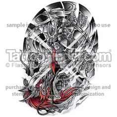 TattooFinder.com: Shoguns Honor tattoo design by Alex Diaconu, Asian, Japanese, samuri, warrior, black and gray, color, dragon, fighting, ancient, battle