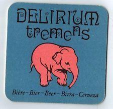 Sous bock bière Delirium Tremens (bière, beer, coaster, élephant)