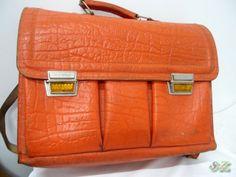 Die Kunst zu Wohnen - Schultasche Leder 70er Tasche Ranzen Tornister alter Schulranzen Vintage Schule
