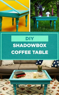 Make this shadowbox table for photos, travel mementos, or the corks from your favorite wine!
