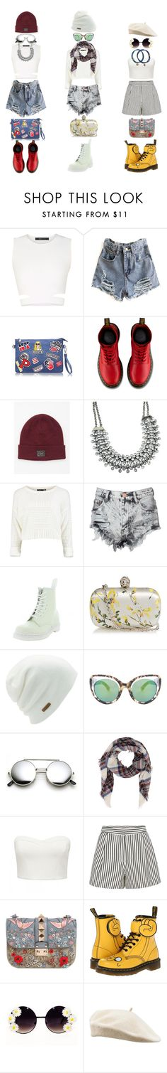 """""""Untitled #63"""" by hien-anhhs on Polyvore featuring BCBGMAXAZRIA, Dr. Martens, OBEY Clothing, Glamorous, Alexander McQueen, Coal, Erdem, Forever New, 3.1 Phillip Lim and Valentino"""