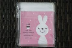 Set of 20  Pinky Bunny Cookie Bags // Wedding Cookie by yysmile