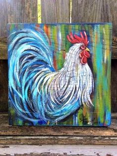 farmhouse rooster painting decor rooster painting rooster
