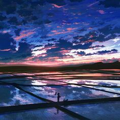 anime landscape images, image search, & inspiration to browse every day. Anime Landscape, Fantasy Landscape, Landscape Art, Fantasy Art, Animation Background, Art Background, Graphisches Design, Anime Scenery Wallpaper, Sunset Wallpaper