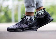 acheter chaussure Puma Ignite EvoKNIT Black White (3)